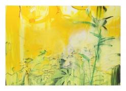 Brian Maguire.Grow House 2, 2015. Acrylic on canvas, 55.1 x 78.7 inches.