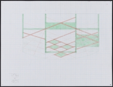 Study for Untitled (13-06), 2013.Colored pencil and graphite on paper,19 x 24 inches, framed.