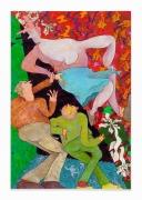 Gladys Nilsson, Slid, 2018, Acrylic on canvas