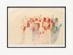 Mourning Women No. 3, 1989, Handprinting and printed collage on paper, 25-1/2 x 38-1/4 inches.