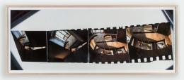 Gordon Matta-Clark.Office Baroque,1977. Cibachrome, 17 x 41.75 inches, framed.