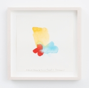 Spencer Finch. Color Notes (Summer), I, 2020. Watercolor on paper, set of 25 notes, 7 x 7 inches, paper (each), 9 x 9 inches, frame (each).