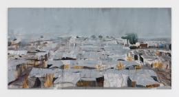 Brian Maguire.Bentiu Camp, South Sudan 1, 2018. Acrylic on canvas, 114.2 x 157.5 inches