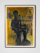 Untitled,2011, Ink on c-print. 69.5 x 49.25 x 2 inches framed.