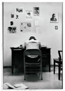 Stokely Carmichael in SNCC Office, 1967. Gelatin silver print, 20 x 16 inches.