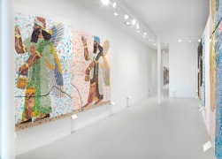 Installation view at Rhona Hoffman Gallery/Michael Rakowitz/Room Z, Northwest Palace of Nimrud/The Invisible Enemy Should Not Exist/2019
