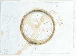 A 21 Day Walk. Cairngorms, Scotland, 2010, 2010. Outline of cooking pot and pencil on paper, 14 x 17 inches.