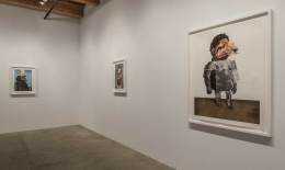 Installation view at Rhona Hoffman Gallery/Nathaniel Mary Quinn/Nothing's Funny/2017