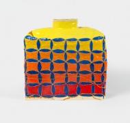 Wabi-sabi Skinny Square,2021, Glazed Ceramic and gold resin