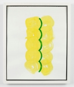 Richard Tuttle.Blue/Red Phase: Drawing #2,2002. Gouache and graphite on paper, 13 1/2 x 10 7/8.