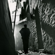 Off On My Own, Harlem, 1948. Gelatin silver print, 18.5 x 17.5 inches.