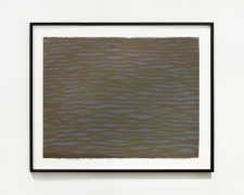 Sol Lewitt.Horizontal Brushstrokes (More or Less),2003. Gouache on paper, 26.25 x 34 x 1.25 inches, framed.