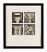 Roger Brown, Introduction to an Out-of-Town-Girl, 1970. Etching and aquatint, 16.5 x 14.5 inches, framed. Edition 1 of 4.