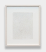 Study Sheet for ANB M 109 1, 2017. Silverpoint on prepared paper, 9.5 x 7.25 inches, paper, 14.75 x 12.5 inches, framed.