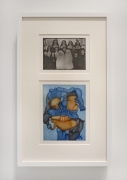 Barbara Rossi, Poor Self Trait #2: Shep, 1970. Color etching and aquatint, 23.75 x 14.5 inches.
