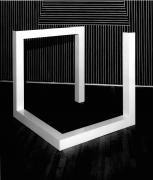 Sol LeWitt, Incomplete Open Cube 6-12, 1974, Painted aluminum structure