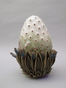 Chris Garofalo, stomata melongere comantem, 2012, Glazed porcelain