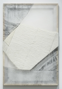 MARTHA TUTTLE,Flower Petals,2021,Wool, silk, marble dust, graphite, 46 x 31 inches