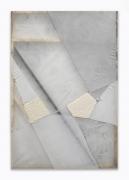 Martha Tuttle. Untitled,2020. Silk, linen, wool, quartz, 31 x 46 inches.