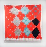Judy Ledgerwood,Hot Cha Cha, 2006. Acrylic gouache, pearl flakes on canvas, 56 x 60 inches.