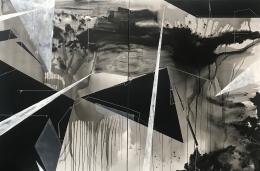 Torkwase Dyson/Raymond Water Table/2018/Acrylic on canvas