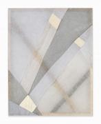 Martha Tuttle.Arrangement 7,2019. Wool, linen, pigment, 32 x 25 inches.