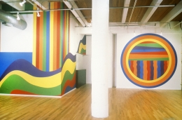 Installation view at Rhona Hoffman Gallery, Sol Lewitt, Circles, Arcs, and Bands, 1999