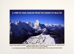 A View of Ama Dablam from the Summit of Imjaste, 2008. Archival inkjet print edition 4 of 50, 18 x 24 inches.