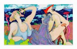 Gladys Nilsson, Repose, 2017, Acrylic on canvas