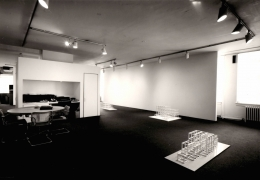 Installation view at Young Hoffman Gallery, Sol LeWitt, New Structures and Photogrids, 1979