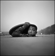 The Invisible Man, Harlem, New York, 1952, 1952.Gelatin silver print, 20 x 24 inches.