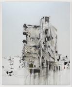 Brian Maguire.Aleppo 3, 2017. Acrylic on canvas, 82.7 x 66.9 inches.