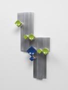 Richard Rezac.Untitled (12-01),2012. Painted maple wood and aluminum, 24 x 11 x 4.5 inches.