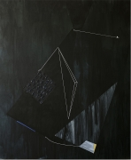 Presence, Takes Courage for a Body to Get Down There, 2020. Acrylic and graphite on canvas, 96 x 80 inches.