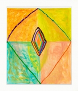 Judy Ledgerwood/Sheela/2018/Oil and metallic oil on canvas