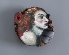 NATALIE FRANK,Woman, Red, 2021, Glazed ceramic,4.5 x 8 x 9 inches, 11.4 x 20.3 x 22.9 cm