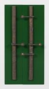 Tendril (Thomaskirche), 2016, Cast bronze and painted wood, 36 x 16 x 4.25 inches.