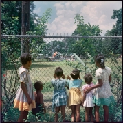 Outside Looking In, Mobile, Alabama, 1956, 1956.Archival pigment print, 42 x 42 inches, Edition 3 of 7.