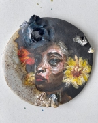NATALIE FRANK,Untitled, 2021, Underglazed ceramic, 5 x 5inches