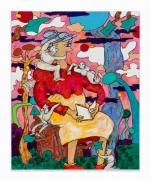 Gladys Nilsson.Blank Verse,2018. Acrylic on canvas, 20 x 16 inches.