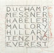 The Names of Seven Men. Nepal2009, 2009. Pencil and colored pencil on paper, 12.75 x 12.75 inches.