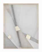 Martha Tuttle.Arrangement 4,2019. Wool, linen, pigment, 32 x 25 inches.