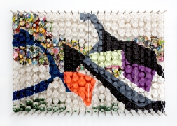 JACOB HASHIMOTO,Not every representation of the world will do,2021, Bamboo, acrylic, paper, wood, and Dacron, 56 3/8 x 81 7/8 x 8.25 inches