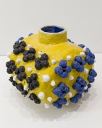 Variations on a Square (Yellow, Blue, Black),2020, Glazed Ceramic