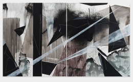 Joni Lee Blackman, 2018, Acrylic on canvas, 84 x 72 inches, each, 84 x 144 inches, diptych.