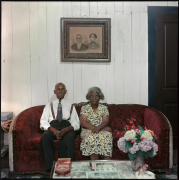 Mr. and Mrs. Albert Thornton, Mobile, Alabama, 1956.Archival pigment print, 34 x 34 inches.