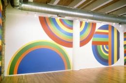 Installation view at Rhona Hoffman Gallery, Sol Lewitt, Circles, Arcs, and Bands, 1999