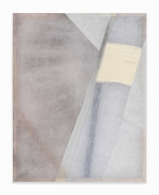 Martha Tuttle.Arrangement 2,2019. Wool, linen, pigment, 32 x 25 inches.