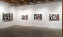 Installation view at Rhona Hoffman Gallery/Derrick Adams/Tell Me Something Good/2017