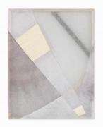 Martha Tuttle.Arrangement 6,2019. Wool, linen, pigment, 32 x 25 inches.